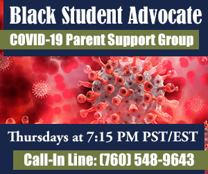 Black Student Advocate COVID-19 Weekly Support Call banner